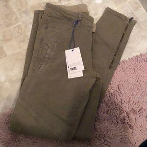 NWT Paige skinny jeans olive green 28 kardashian